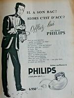 PUBLICITÉ DE PRESSE 1956 FAITES CONFIANCE AU RASOIR PHILIPS