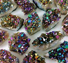 GEMCORE: One(1) XL Aura Flame Rainbow Amethyst Titanium Quartz Druzy Cluster