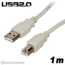 """USB2.0 Drucker-Anschluß-Kabel-A-Stecker-B-Stecker 1m"