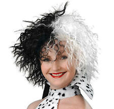 Cruella De Ville Wig 101 Dalmations Halloween Fancy Dress