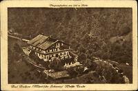 BUCKOW 1926 seltene Fliegeraufnahme Luftbild-AK Partie am Haus Weiße Taube