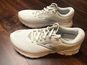 New Brooks Womens Adrenaline GTS 19 Running Shoes Size 6.5 White Gray