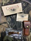 Camillus Lock back Folding knife Model 885 NIB with Sheath