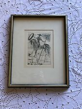 don quixote Art By Salvador Dali Framed With Authentication