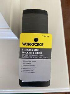 Workforce Stainless Steel Block Wire Brush 330860