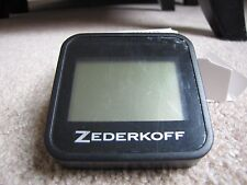 Zederkoff Digital Square Hygrometer/Thermometer For Cigar Humidors - Black - New