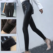 Faux Leather Leggings Women Leggins Thin Leggings Stretchy Leggins Sexy Push LJ