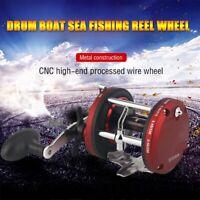 sale 12BB Ball Bearing Bait Metal Casting JD Drum Boat Sea Fishing Reel Wheel