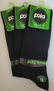 Bamboo Men Socks Crew Length, Natural, Antibacterial, Seamless, Black, 3 pack