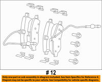 REAR Brake Pads Expedition OEM Ford Motorcraft 1997-2003 F-150 XU2Z-2V200-TA