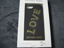 MICHAEL KORS Black Plastic iPhone 7 or 8 Snap On Phone Case $68 box