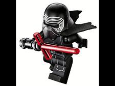 NEW LEGO ORIGINAL KYLO REN MINIFIG MINIFIGURE WITH CAPE HELMET LIGHTSABRE RARE