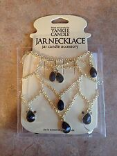 NEW in BOX YANKEE CANDLE Onyx Candle Necklace