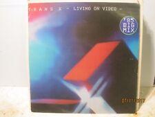 TRANS x LIVING ON VIDEO C/W DIGITAL WORLD  Free UK Post