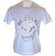 NUEVO Hombre French Connection Camiseta FCUK Rock Fest Azul 96.5cm XS