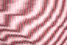 Red Cotton Seersucker Fabric Stripe Apparel 1/8th Inch Stripe Bfab