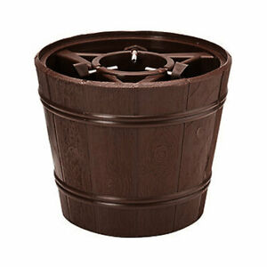 Barrel Style 6ft (1.8m) Christmas Tree Stand Tub Holder Base Water Holding Brown