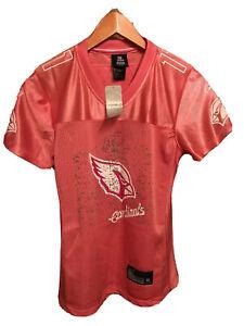 New LARRY FITZGERALD Arizona Cardinals Pink Reebok Jersey NWT Womens Medium M