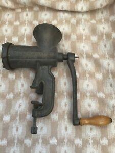 Vintage commercial size meat mincer/grinder Bolinder's (Sweden) clamp,cast iron?