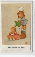 """NOW I EXPECT HE'LL GROW"": Mable Lucie Attwell postcard (C23331)"