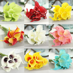Artificial PU Real Touch Calla Lily Flower Wedding Party Home Decor UK