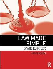 Law Made Simple by David Barker (Paperback, 2014)