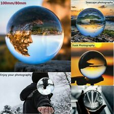 100/80mm Clear Round K9 Glass Magic Crystal Ball Photography Sphere Home Decor