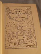 QUEEN ANNE BOLEYN BY FRANCIS HACKETT 1939 LITERARY GUILD