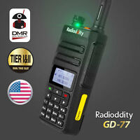 US Radioddity GD-77 DMR V/UHF Tier II Digital Analog Walkie Talkie Two way Radio