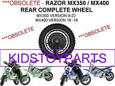 NEW! Razor DIRT ROCKET BIKE MX400 V16-18  Rear Wheels Assembly **OBSOLETE