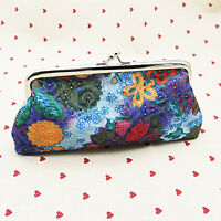 Womens Girls Small Mini Wallet Floral Card Holder Coin Purse Clutch Handbag Bag