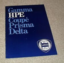 LANCIA HPE brochure 1984-HPE VOLUMEX VX & ie Automatic
