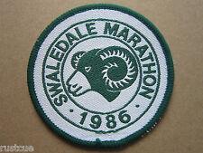Swaledale Marathon 1986 Walking Hiking Woven Cloth Patch Badge