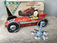 Vintage Tomiyama Firebird Speedway Racer Friction Tin Toy Car & Box Japan 1960's