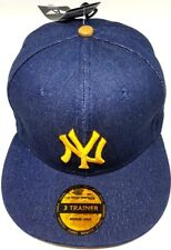 New Era 3 Trainer Fitted Quality New York Yankees MLB Baseball Cap Hat Authentic