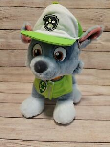 EUC Build A Bear Paw Patrol Rare Rocky With Collar, Hat & Vest Nickelodeon