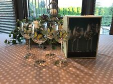 Lenox Butterfly Meadow Wine Glasses (Set of Four) In Box