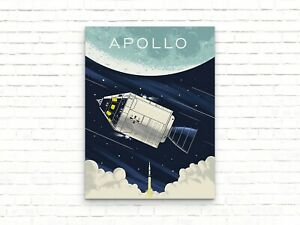 Nasa Apollo Spacecraft Space Poster - Art Print - Wall Decor Home Decor Poster,