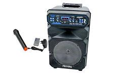 Cassa bluetooth amplificata portatile speaker karaoke microfono sd usb ES-8-05