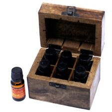 Aromatherapy Starter Gift Set - Top Six Essential Oils in Wooden Box
