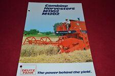Deutz Fahr M1102 M1202 Combine Dealer's Brochure DCPA2