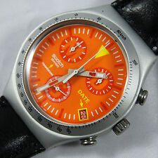 swatch chrono irony aluminium arancia infocata ycs4029 very rare vintage watch
