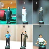 Miniature Figure Mao, Arabian, Gusdur, Soekarno (pick one) H0 Scale 1/87