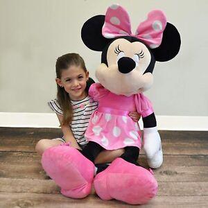 "NEW Disney Baby Minnie Mouse Jumbo Stuffed Animal Plush Toy 36"" Nursery Decor"