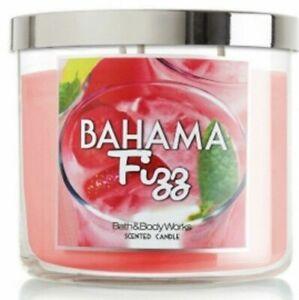 BATH & BODY WORKS BAHAMA FIZZ 3-WICK CANDLE 14.5 oz NEW! DISCONTINUED & RARE
