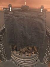 Topshop Moto Black Grey Denim Zip Mini Skirt 10