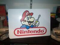 """Nintendo Repair Display, Nintendo Aluminum Sign, 12"""" x 18""""."""