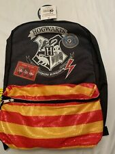 Harry Potter Hogwarts Chibi Ron Hermione Reflective Strips Backpack Book Bag New