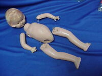 """UNMARKED Composition Doll with Sleepy Eyes 16"""" OLD Vintage"""