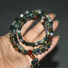 Natural moss agate   hang on  beads 108pcs  Necklaces& Bracelets